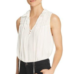 FREE PEOPLE Ruffle Me Up Peasant Top in Ivory - XS